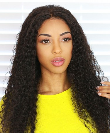 13x6 Deep Part Lace Front Human Hair Wigs 150% Density Deep Curly Wig For Black Women