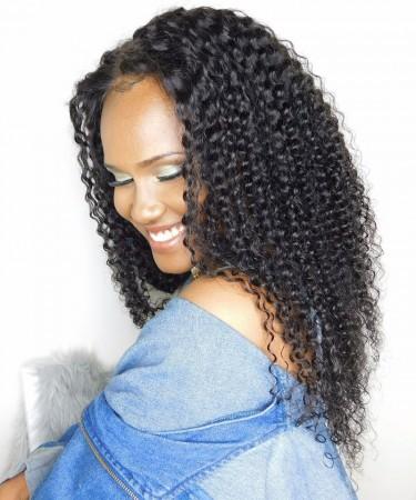 Brazilian Lace Wigs Kinky Curly 130% Density 100% Human Hair Wigs