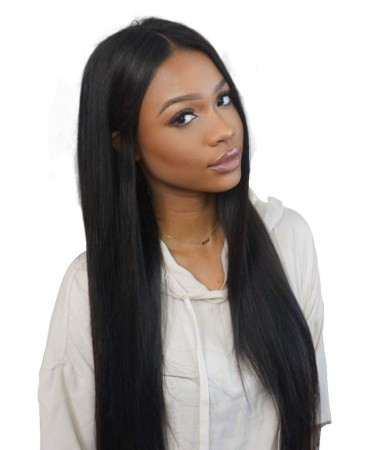 Pre Plucked Silky Straight 250% Density Lace Front Human Hair Wigs