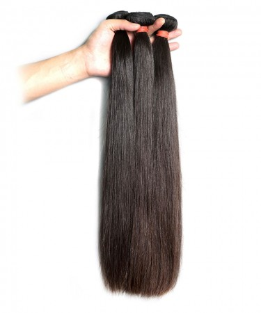 Peruvian Virgin Hair Human Hair Weave Straight Hair Extension 100% Human Hair Bundles 8''-30'' No Tangle