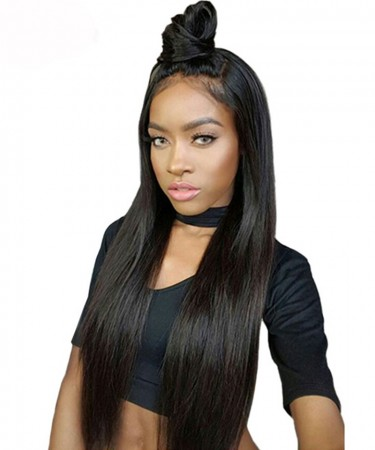 180% Density 360 Lace Wigs Pre Plucked Natural Hairline Brazilian Hair Straight