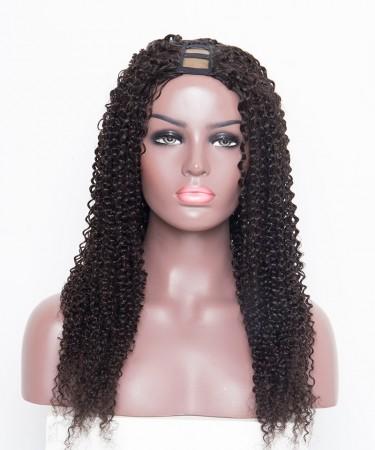 U Part Human Hair Wigs For Black Women Kinky Curly 100% Brazilian U Part Wigs