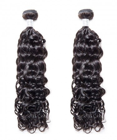 2 Pcs Water Wave Brazilian Virgin Hair Bundles Cutile Kept Remy Hair Weaves