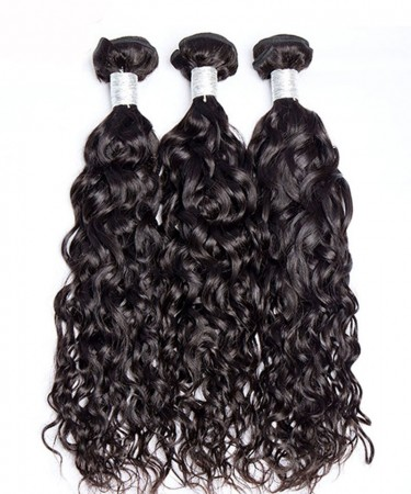 Malaysion Virgin Hair 3 Pcs Water Wave Bundles Cutile Kept Remy Hair Weaves