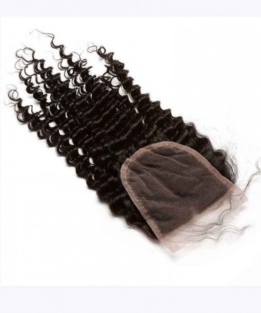 Brazilian Virgin Hair Kinky Curly Human Hair Lace Closure 4x4 Lace Size