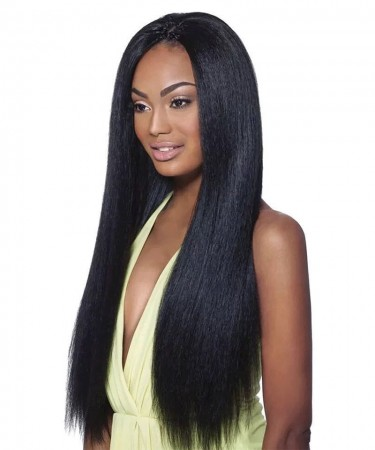 Msbuy Yaki Straight Full Lace Human Hair wigs Pre Plucked Light Yaki Straight 120% Density Lace Wigs With Baby Hair