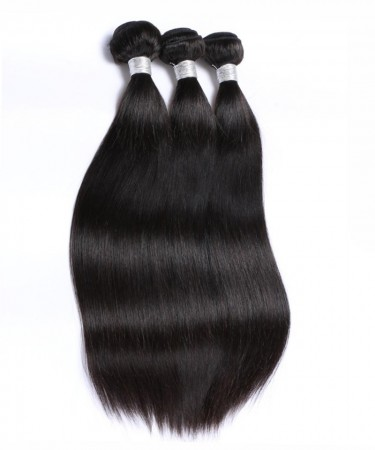 Peruvian Virgin Hair 100% Human Hair 3 Pcs Yaki Straight Bundles