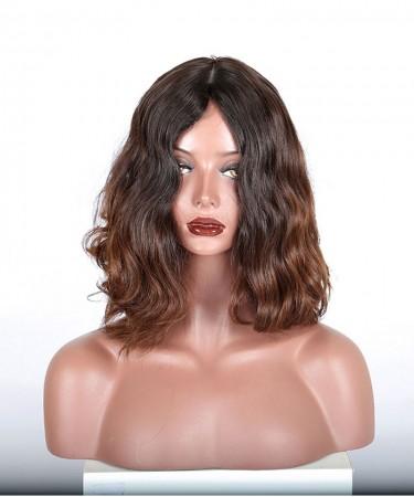 Finest European virgin hair Natural wave jewish wig, silk top kosher wig Best Sheitels free shipping