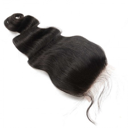 Body Wave Lace Closure 4x4 Lace Size With Natural Baby Hair