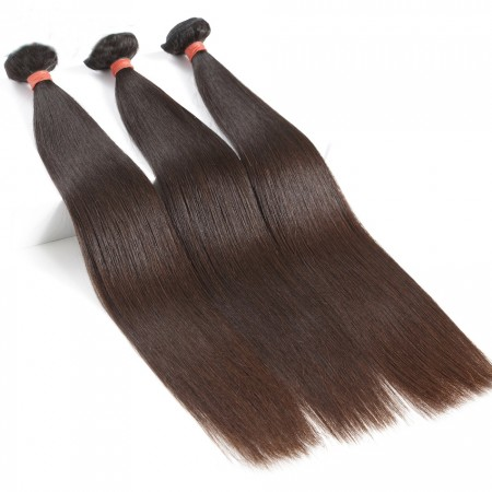 Malaysian Straight Hair 100% Human Hair Bundles Non-Remy Hair Extension Natural Color Can Be Dyed