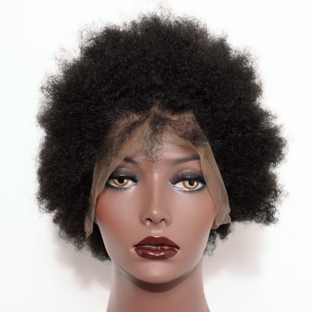 Afro Curly Full Lace Wig For Black Women 6 inch 3 pieces