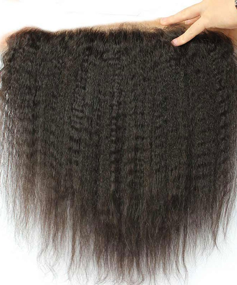 13x6 Lace Frontal Closure With Baby Hair Kinky Straight