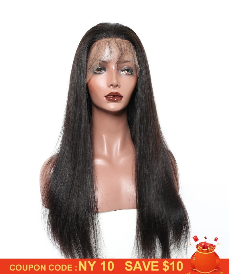 Sale 150 Density 24inch Lace Front Human Hair Wigs Silky Straight