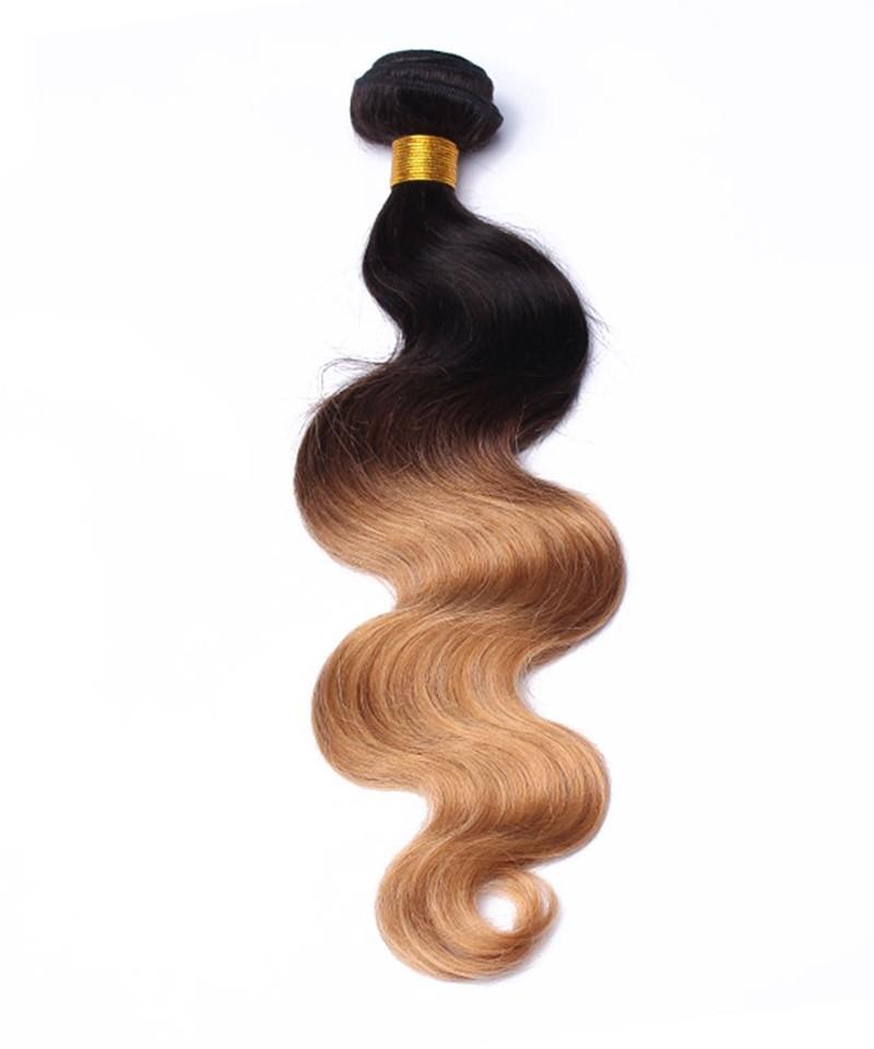 3 Pcs Ombre 1b27 Honey Blonde Brazilian Hair Weave Bundles Msbuy