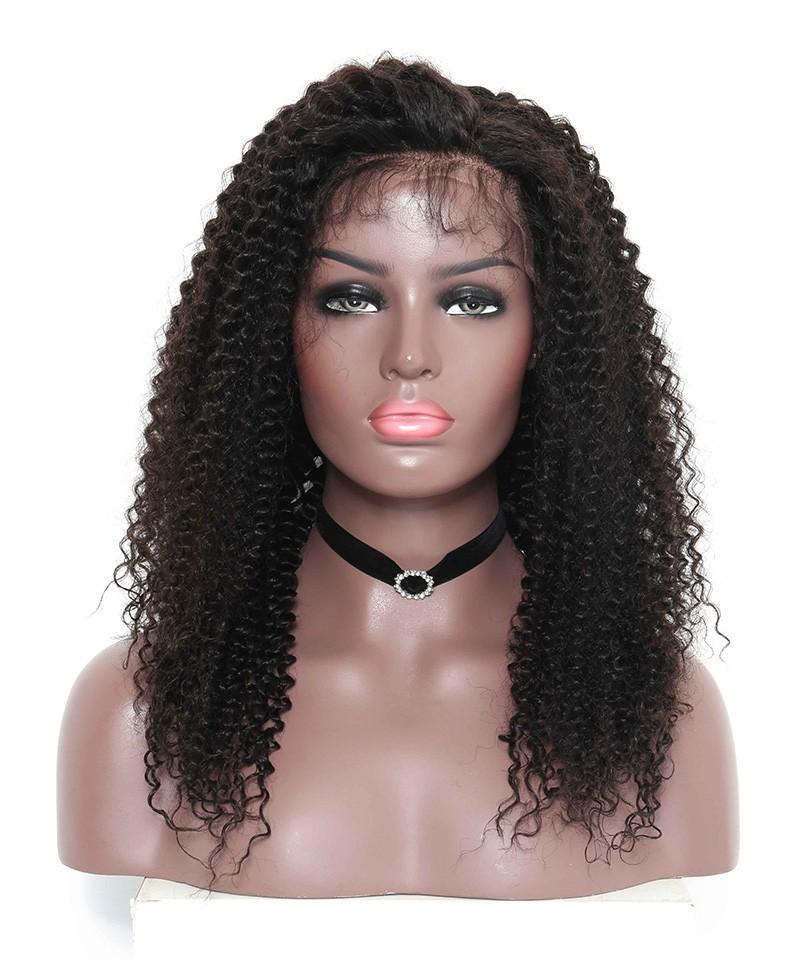Brazilian Hair Kinky Curly Full Lace Human Hair Wigs For ... - photo#38