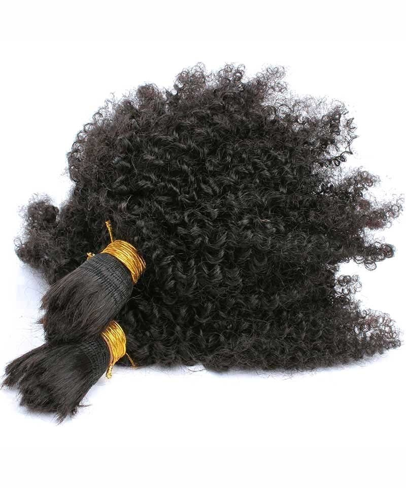 Human Braiding Hair Bulk No Attachment Mongolian Afro Kinky Curly Crochet Braids