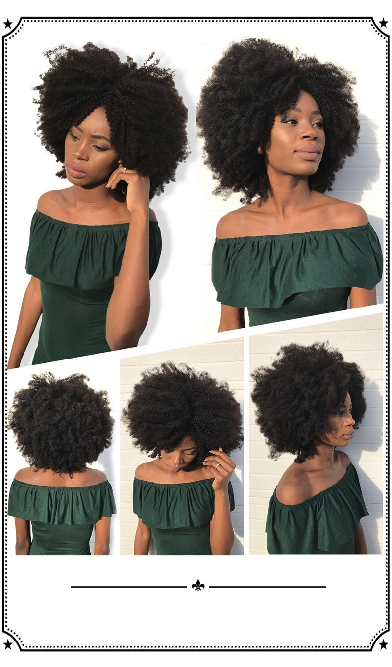 Msbuy Peruvian Afro Kinky Curly Hair Weave 4b 4c 100 Natural Hair