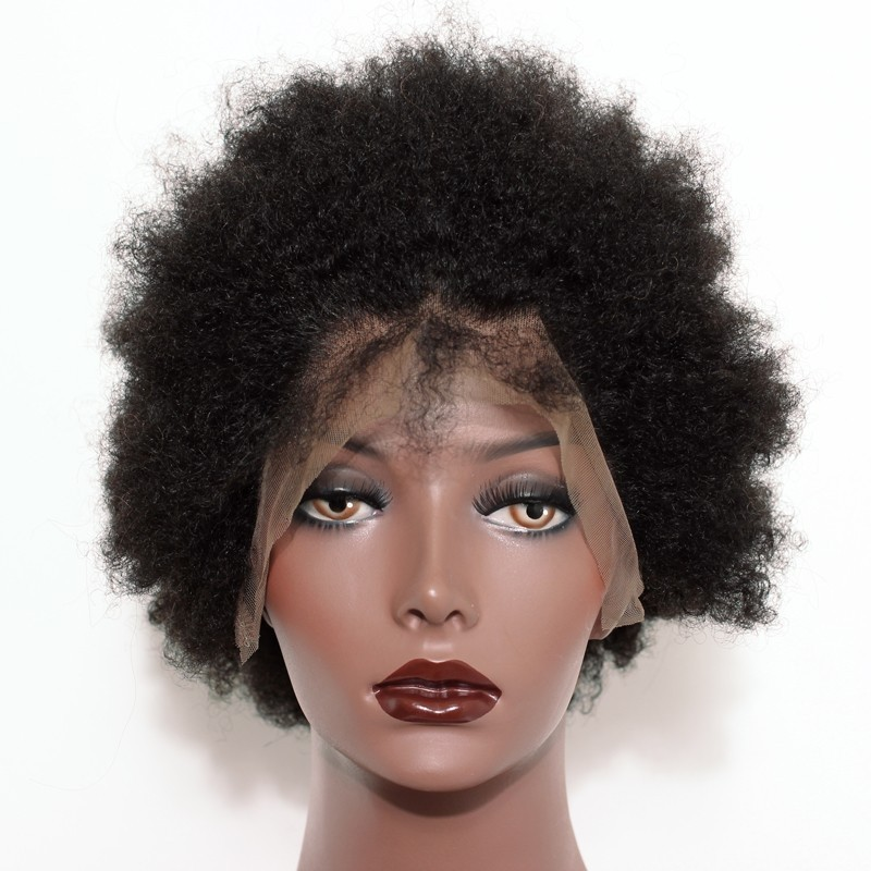 Afro Curly Full Lace Wig For Black Women 6 inch 3 pieces - Msbuy.com b99155230a