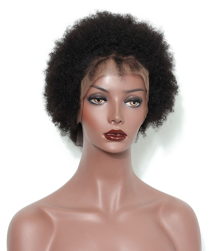 Afro Curly Lace Front Wig For Black Women 6 inch - Msbuy.com