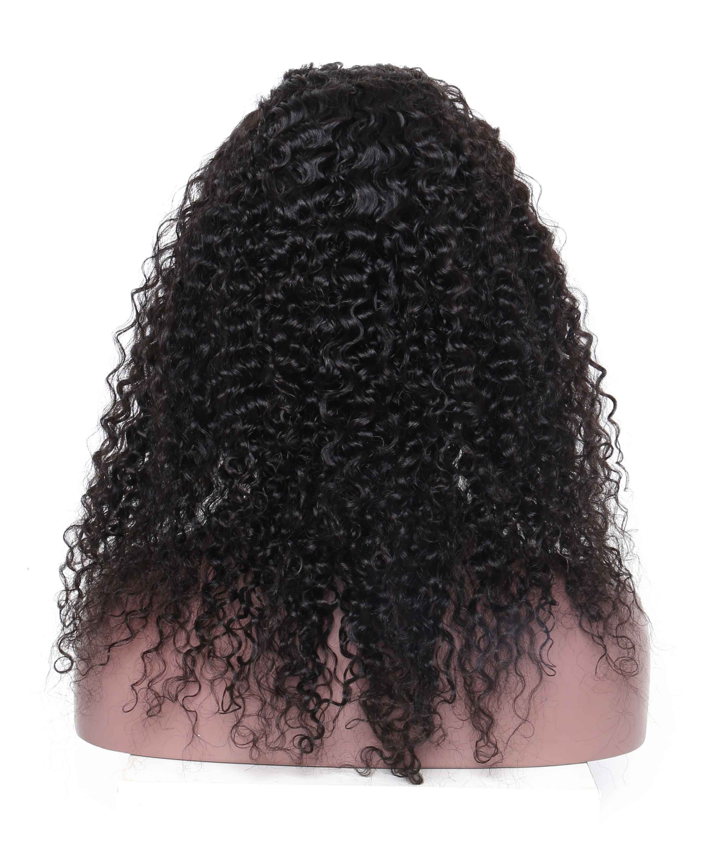 Full Lace Human Hair Wigs Deep Curly Wave Silk Base Wigs