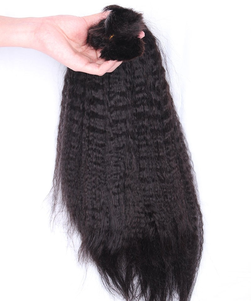 Human Braiding Hair Bulk No Attachment Brazilian Kinky