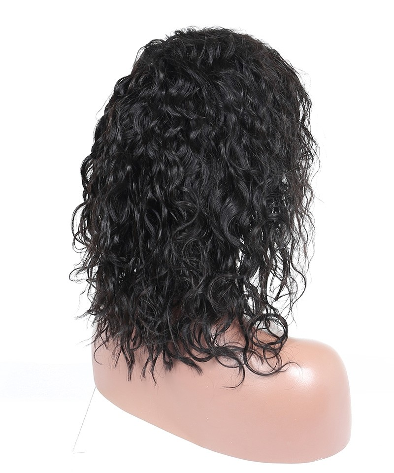 13x6 Lace Front Human Hair Wigs 130 Density Water Wave Bob Style Msbuy Com