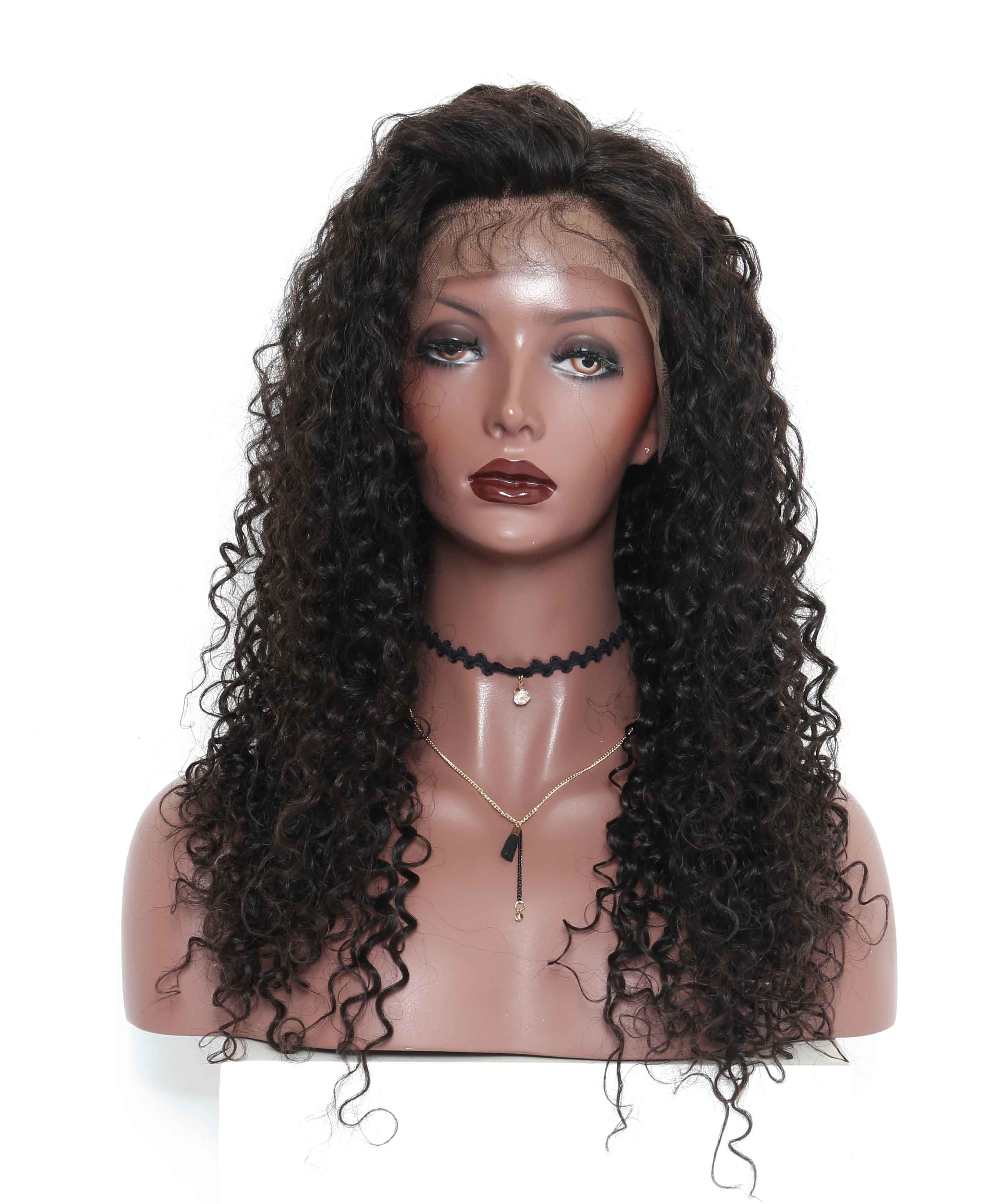 brazilian lace wigs deep curly 120 density pre plucked natural
