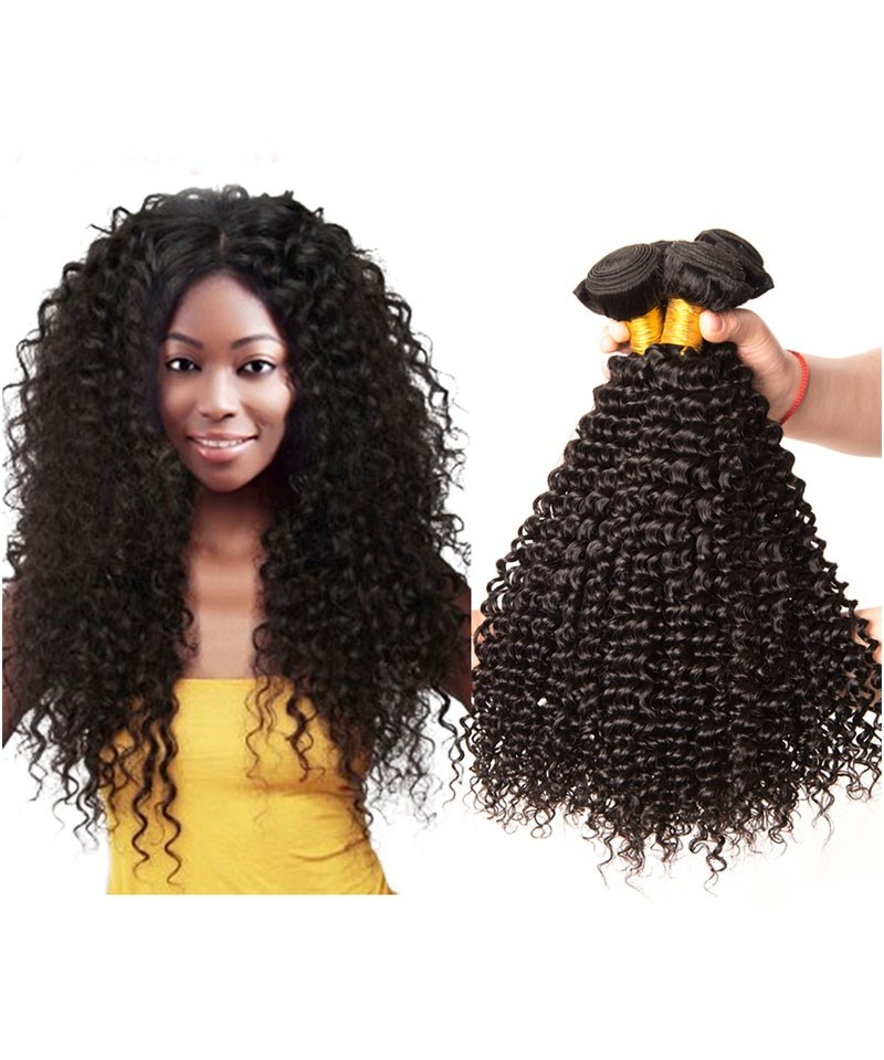 Brazilian Kinky Curly Braid In Bundles Hair Weave 100gpiece Human