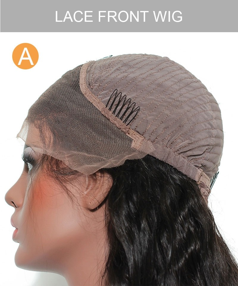 Brown Hair Color Lace Front Human Hair Wigs 250 Density For Black