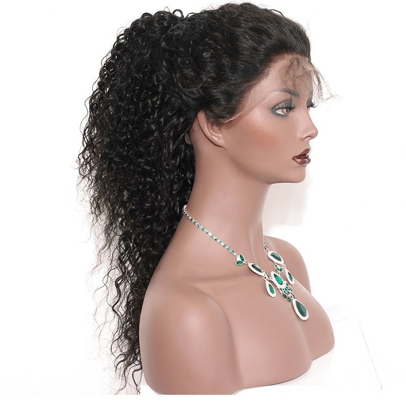 Deep Curly 360 Lace Frontal Wigs For Black Women 150% Density Lace Wigs 5d0f585883