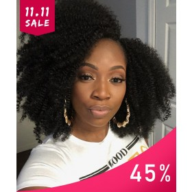 Msbuy Hair Wig 13x6 Lace Front Bob Wigs With Baby Hair Pre Plucked 150% Density Afro Kinky Curly Human Hair Wig For Black Women