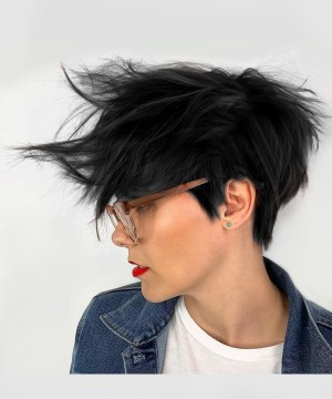 150% Density Natural Color Short Pixie Cut Wigs For Black Women With 13X4 Lace Part  Natural Straight Human Hair Wigs