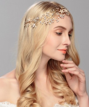 Gorgeous Rose Gold Crystal Rhinestone Pearls Wedding Hair accessories Hair Vine Hairband Bridal Headband Bridesmaids Jewelry