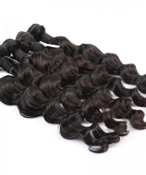 Loose Wave 2 Pcs 100% Unprocessed Hair Extensions Human Hair Weave Bundles