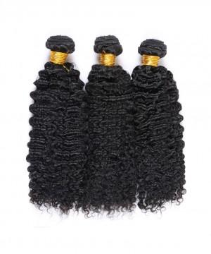Deep Curly Virgin Hair Weave Double Weft Human Hair 3 Bundles