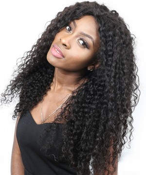 250% Density Deep Curly Lace Front Human Hair Wigs For Black Women