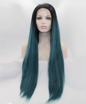 1B/Dark Blue Ombre Synthetic Wig With For Black Women