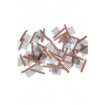 Lace Wrap 6 Teeth Combs Wire Spring Comb