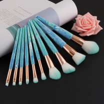 10pcs Professional Makeup Brush Set Powder Foundation Concealer Cheek Shader Make Up Tools Kit
