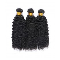 3B 3C Deep Curly Weave Human Virgin Hair Weave Bundles Double Weft Human Hair Extensions 3 Bundles