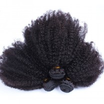 Msbuy Peruvian Afro Kinky Curly Hair Weave 4B 4C 100% Natural Hair Weave 3Pieces