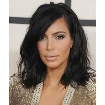 Kim Kardashian Short Wavy Style Lace Wig