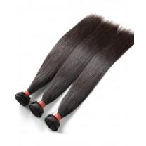100% Human Hair 3 Pcs Straight Bundles Natural Black Brazilian Virgin Hair