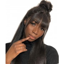 Msbuy SALE! Silky Straight Invisible 360 Lace Frontal Wig Pre Plucked 150% Density Undetected Lace Front Human Hair Wigs With Baby Hair