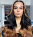 Msbuy wigs T part ombre wigs Colorful human hair wigs wave 250% density colored Lace Front Human Hair Wigs With Baby Hair Brazilian Lace Wigs For Black Women cheap