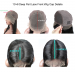 Pre Plucked Deep Part Silky Straight Msbuy13x6  Lace Front Wigs 250% Density