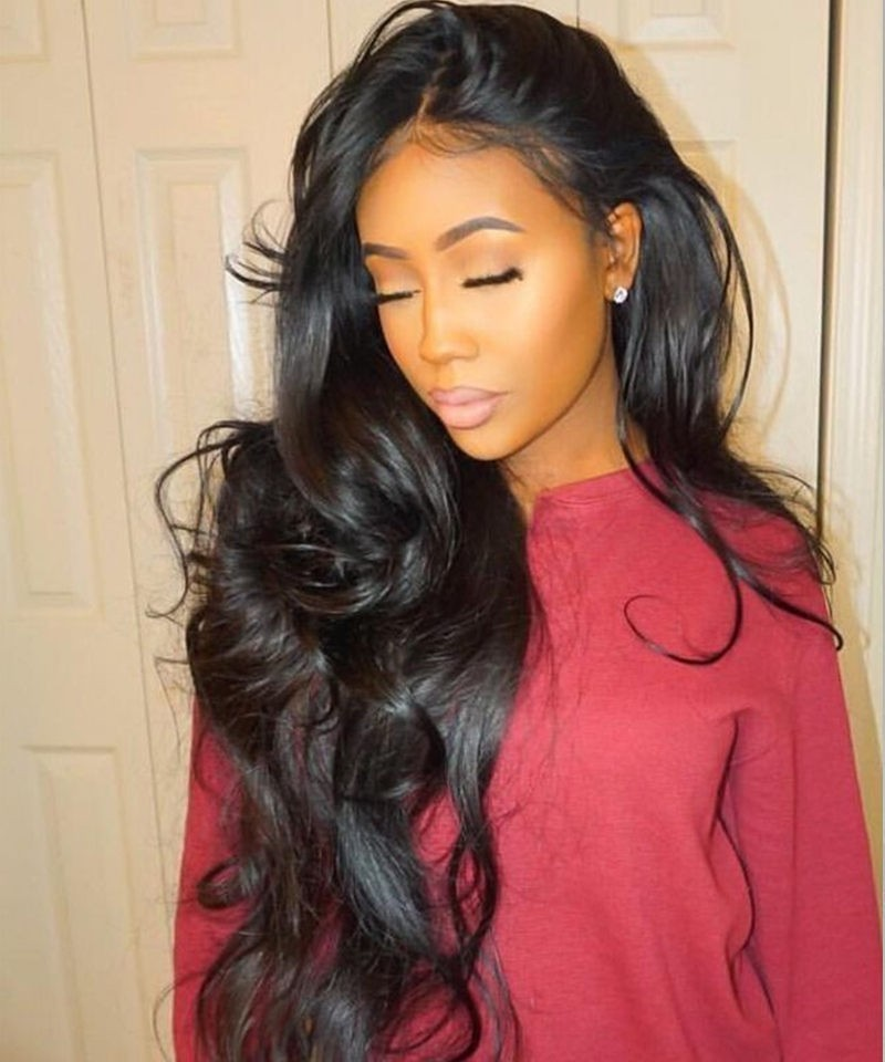 Glue Needed Body Wave Full Lace Human Hair