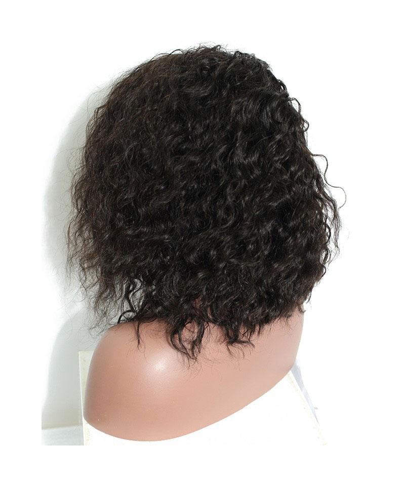 human hair bob wigs wavy