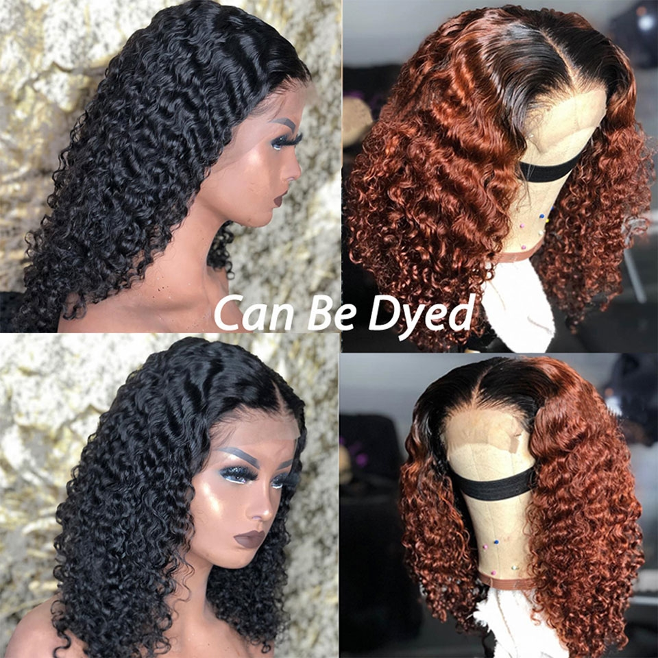 curly bob lace hair wig