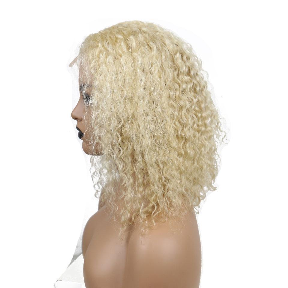 curly bob lace wig 613 color
